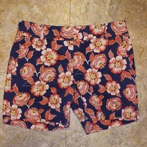 Ann Taylor Loft floral print Riviera shorts